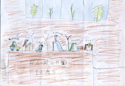 Alberto, Santiago, Coco, Alexandra, Fredy, Roki… todos habitantes del Rancho Texas Park, Isla de Lanzarote